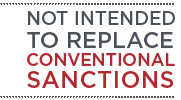 NOT INTENDED TO REPLACE CONVENTIONAL SANCTIONS